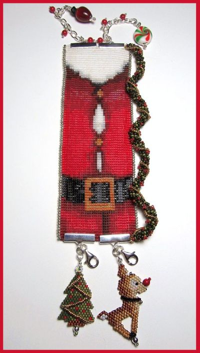 Fat Santa Loomed Cuff