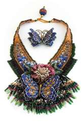 Beaded Butterfly Garden Necklace