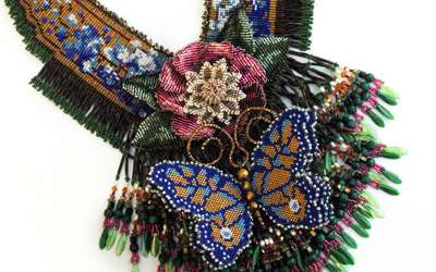 Beaded Butterfly Gardern Necklace