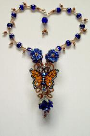 Beaded Lampwork Necklace