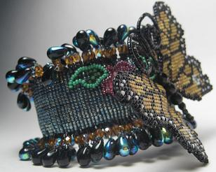 Beaded Monarch Wrist Corsage